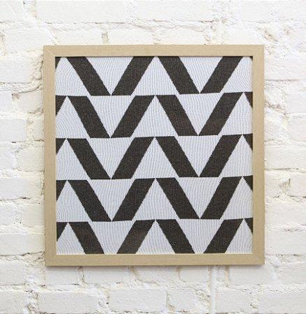 Quadro Pirâmide Cinza e Branco