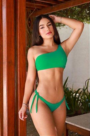 Biquini Basic Ombro Só - Verde