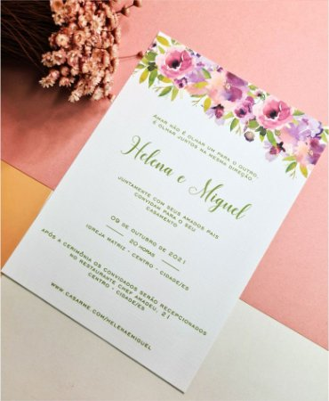 Convite de Casamento ou Identidade Visual - Floral Pistache Bruna [Artes Digitais]