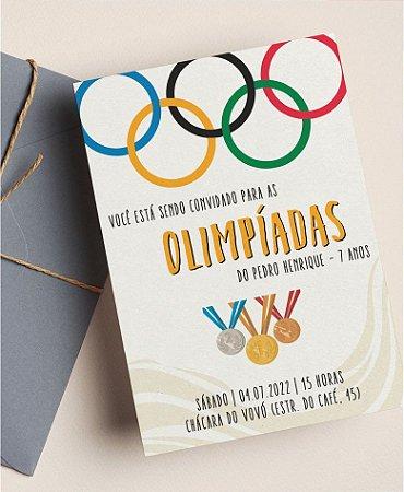 Convite Aniversário ou Identidade Visual - Olimpíadas [Artes Digitais]