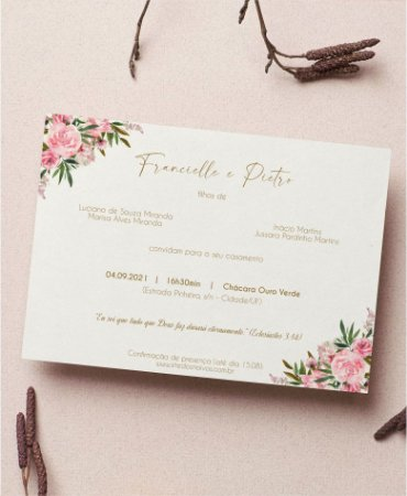 Identidade visual: artes avulsas, kits ou convite de casamento - floral rosa lara [artes digitais]