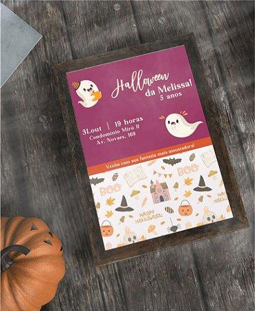 Convite Halloween ou Identidade Visual - Fantasminha [Artes Digitais]