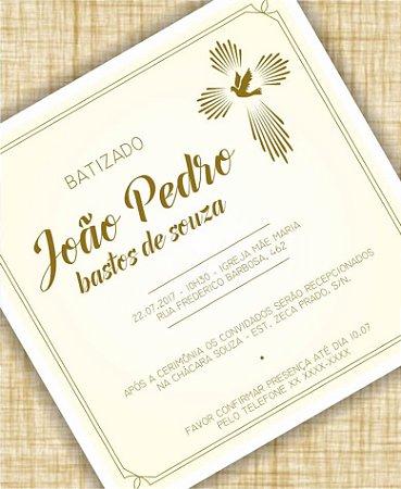 Convite Batizado ou Identidade Visual - Dourado [Artes Digitais]