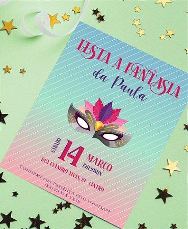 Convite Aniversário ou Identidade Visual - Festa Fantasia Cores [Artes Digitais]