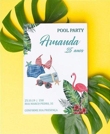 Convite de Aniversário ou Identidade Visual - Pool Party [Artes Digitais]