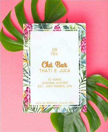 Convite Chá Bar ou Identidade Visual - Tropical Delicado [Artes Digitais]