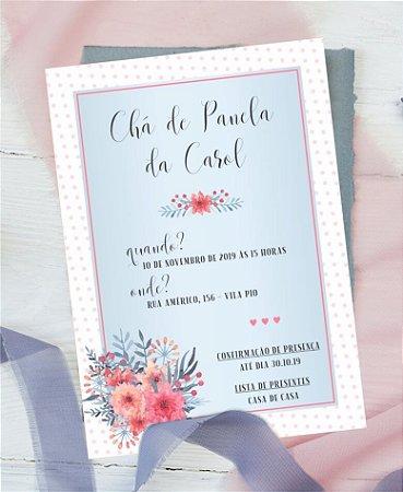 Convite Chá de Cozinha ou Identidade Visual - Floral Delicado [Artes Digitais]