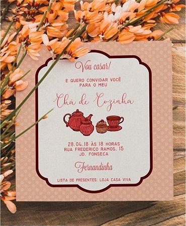 Convite Chá de Cozinha ou Identidade Visual - Poá [Artes Digitais]