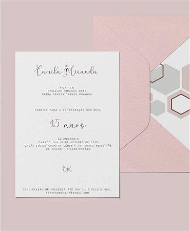 Convite de 15 Anos ou Identidade Visual - Geométrico [Artes Digitais]