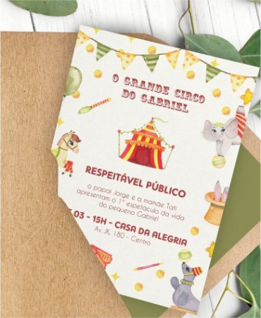 Convite Aniversário ou Identidade Visual - Circo [Artes Digitais]