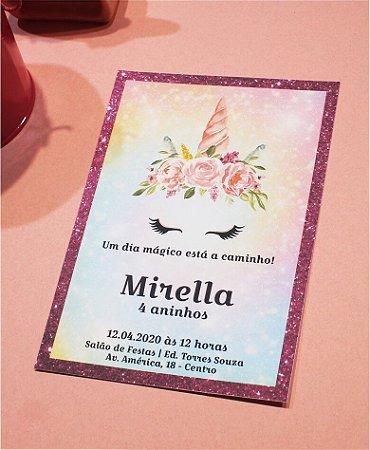 Convite Aniversário ou Identidade Visual - Unicórnio [Artes Digitais]