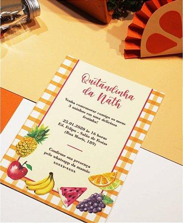 Convite Aniversário ou Identidade Visual - Quitandinha / Pic Nic [Artes Digitais]