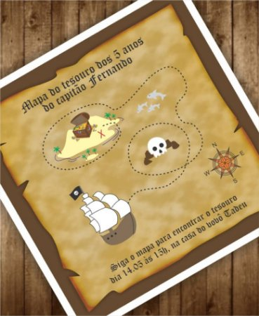Convite Aniversário ou Identidade Visual - Piratas [Artes Digitais]