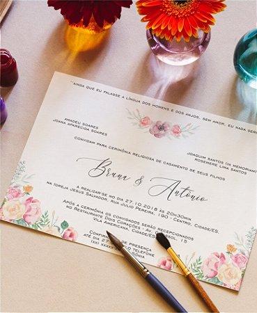 Identidade visual: artes avulsas, kits ou convite de casamento - floral primavera [artes digitais]