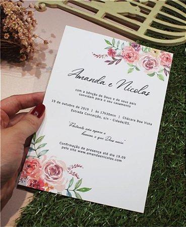 Convite de Casamento ou Identidade Visual - Floral Verão [Artes Digitais]