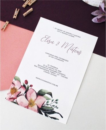 Convite de Casamento ou Identidade Visual - Floral Destaque [Artes Digitais]