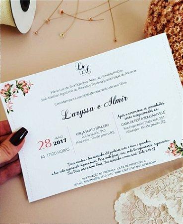 Convite de Casamento ou Identidade Visual - Floral Moderno Delicado [Artes Digitais]