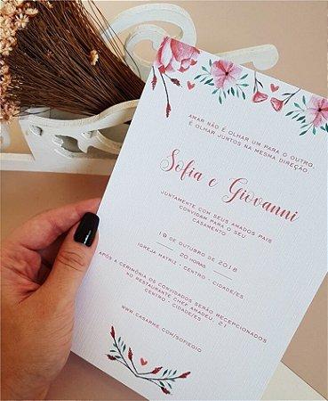 Convite de Casamento ou Identidade Visual - Floral Rosé [Artes Digitais]