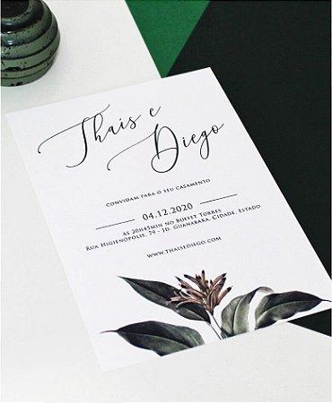 Convite de Casamento ou Identidade Visual - Verde Moderno [Artes Digitais]