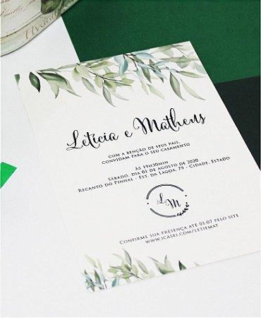Convite de Casamento ou Identidade Visual - Brasão Folhagens II [Artes Digitais]