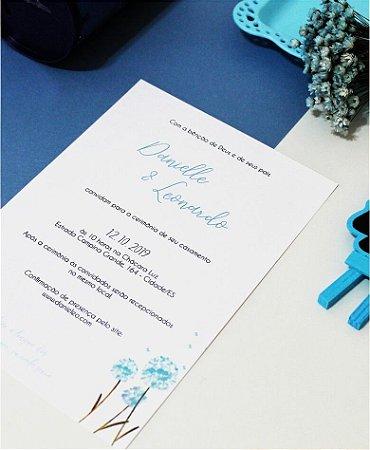 Convite de Casamento ou Identidade Visual - Floral Dente de Leão [Artes Digitais]