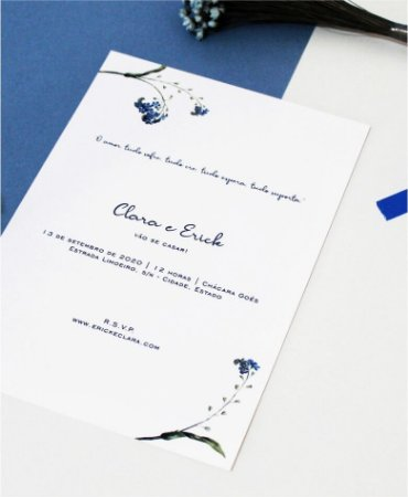 Convite de Casamento ou Identidade Visual - Azul Minimalista [Artes Digitais]