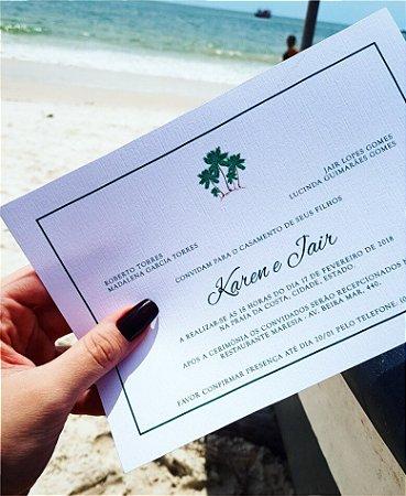 Convite de Casamento ou Identidade Visual - Praia Coqueiro [Artes Digitais]