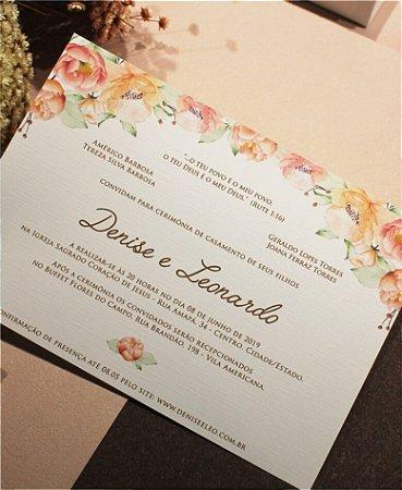 Convite de Casamento ou Identidade Visual - Floral Kombina [Artes Digitais]