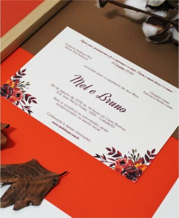 Convite de Casamento ou Identidade Visual - Floral Outono [Artes Digitais]