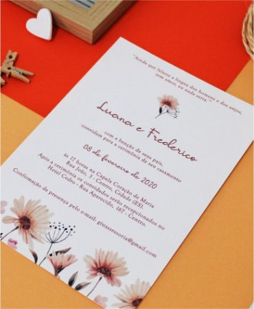 Convite de Casamento ou Identidade Visual - Floral Suave [Artes Digitais]