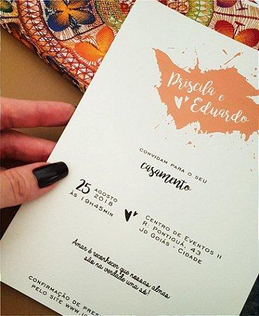 CONVITE DE CASAMENTO OU IDENTIDADE VISUAL - PINTURA [ARTES DIGITAIS]