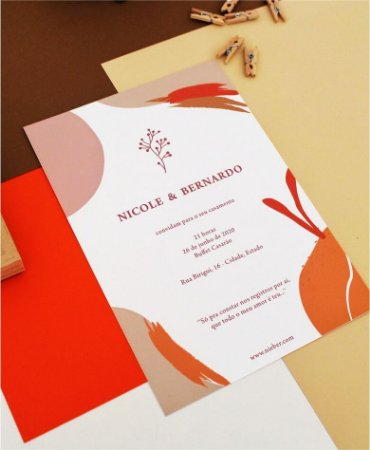 Convite de Casamento ou Identidade Visual - Tons Terrosos Moderno [Artes Digitais]