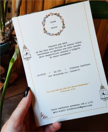 Convite de Casamento ou Identidade Visual - Vintage Floral [Artes Digitais]