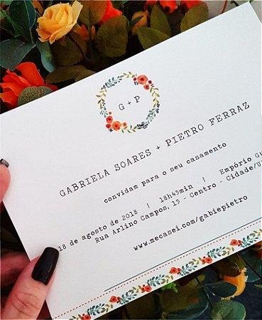 Convite de Casamento ou Identidade Visual - Brasão Floral [Artes Digitais]
