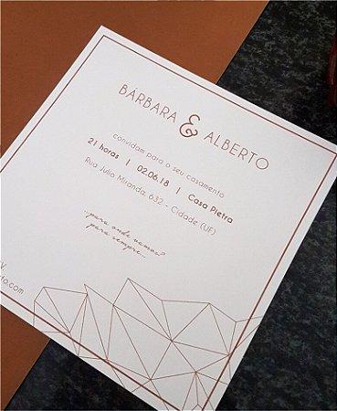 Convite de Casamento ou Identidade Visual - Geométrico Diamante [Artes Digitais]