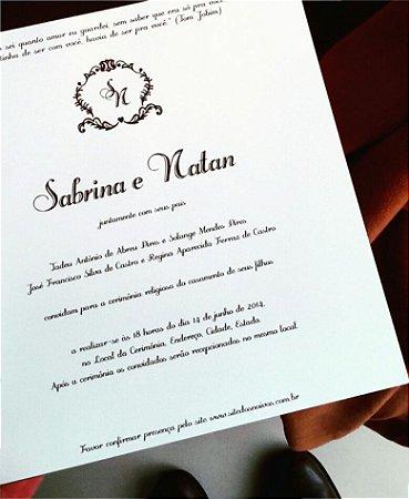 Convite de Casamento ou Identidade Visual - Clássico Quadrado Marrom [Artes Digitais]