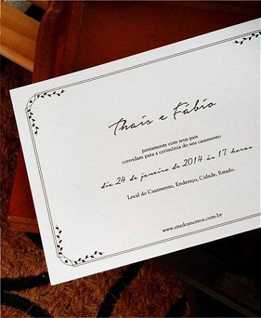 Convite de Casamento ou Identidade Visual - Rústico Delicado [Artes Digitais]