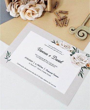 Convite de Casamento ou Identidade Visual - Floral Branco [Artes Digitais]