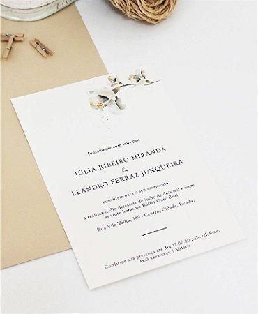 Convite de Casamento ou Identidade Visual - Branco Sutil [Artes Digitais]