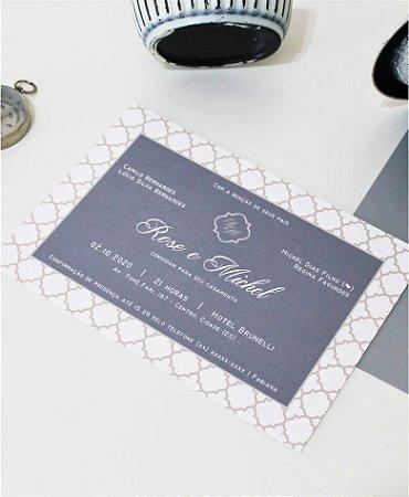 Convite de Casamento ou Identidade Visual - Cinza Geométrico [Artes Digitais]