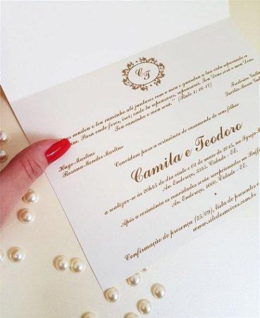 Identidade visual: artes avulsas, kits ou convite de casamento - clássico dourado brasão [artes digitais]