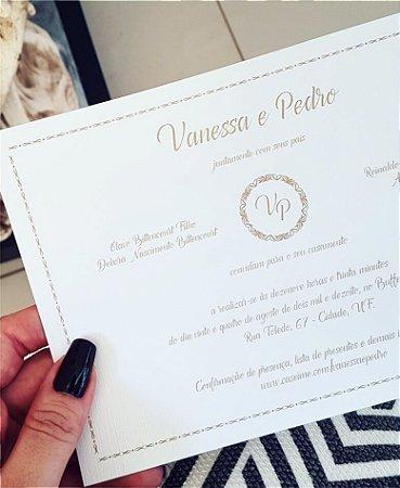 Convite de Casamento ou Identidade Visual - Clássico Dourado [Artes Digitais]