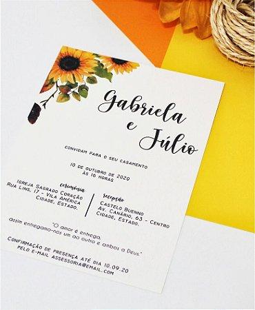 Convite de Casamento ou Identidade Visual - Girassol [Artes Digitais]