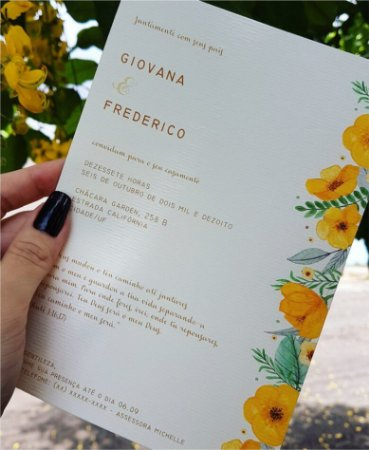 Convite de Casamento ou Identidade Visual - Floral Amarelo [Artes Digitais]