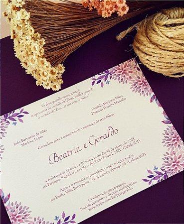 Convite de Casamento ou Identidade Visual - Floral Lilás [Artes Digitais]