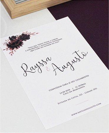 Convite de Casamento ou Identidade Visual - Burgundy Minimalista [Artes Digitais]