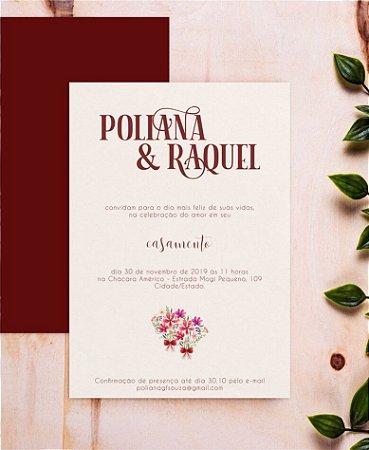 Convite de Casamento ou Identidade Visual - Buquê [Artes Digitais]