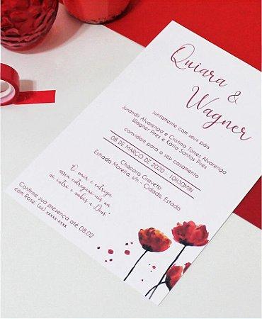 Convite de Casamento ou Identidade Visual - Vermelho Delicado [Artes Digitais]