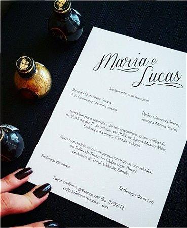 Convite de Casamento ou Identidade Visual - Moderno Preto [Artes Digitais]