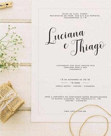 Convite de Casamento ou Identidade Visual - Vintage Clean [Artes Digitais]